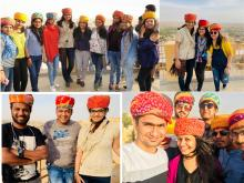 The Kudosians loved flaunting traditional look at the Fort